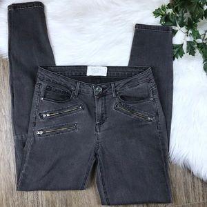 Rachel Roy Denim Moto Zip Skinny Jeans   Sri Lanka